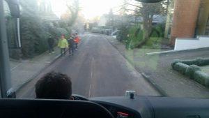 Fahrt mit dem Shuttlebus zum Start.